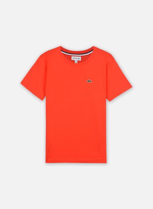 Vêtements Lacoste Tee-Shirt Enfant Tj14 Rouge vue détail/paire