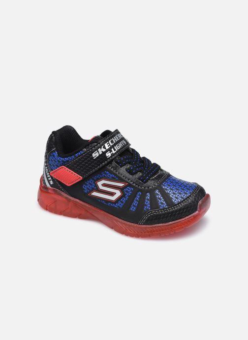 Deportivas Skechers Illumi-Brights Tuff Track Negro vista de detalle / par