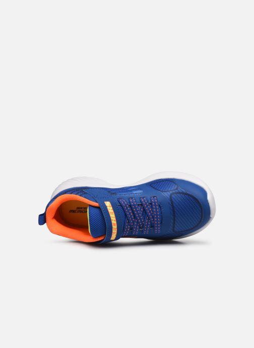 Deportivas Skechers Bounder K Azul vista lateral izquierda