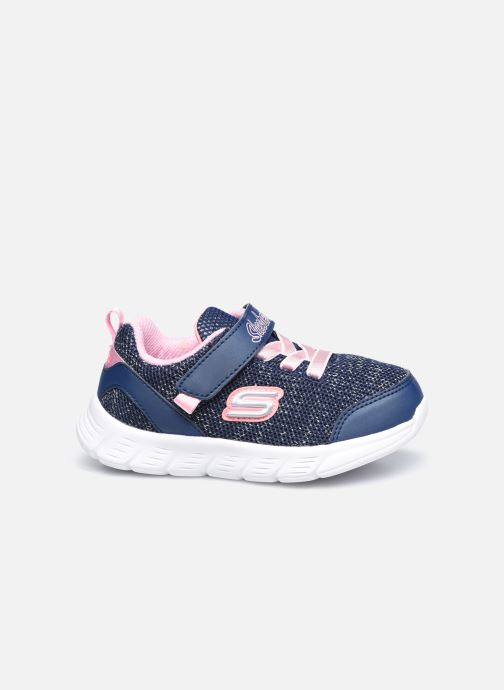 Sneaker Skechers Comfy Flex Moving On blau ansicht von hinten