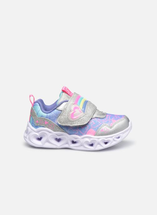 Deportivas Skechers Heart Lights Lovie Dovie Plateado vistra trasera