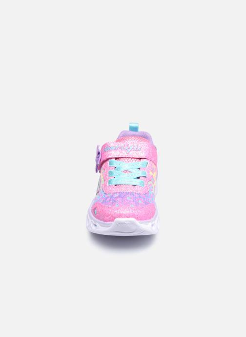 Sneaker Skechers Heart Lights Untamed Hearts rosa schuhe getragen