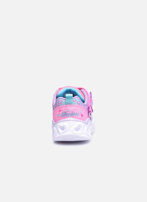 Sneaker Skechers Heart Lights Untamed Hearts rosa ansicht von rechts