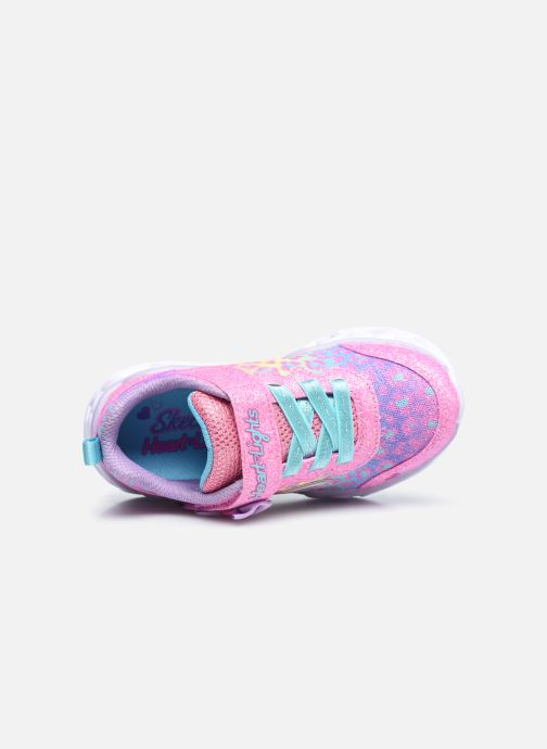 Sneaker Skechers Heart Lights Untamed Hearts rosa ansicht von links