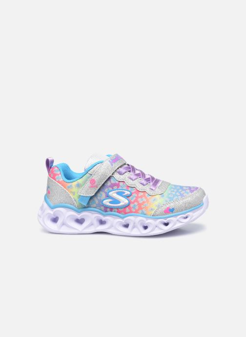 Sneakers Skechers Heart Lights Shimmer Spots Argento immagine posteriore