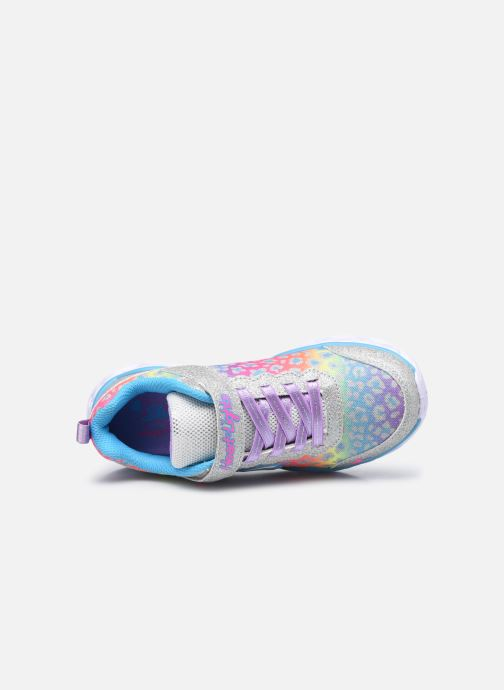 Sneaker Skechers Heart Lights Shimmer Spots silber ansicht von links