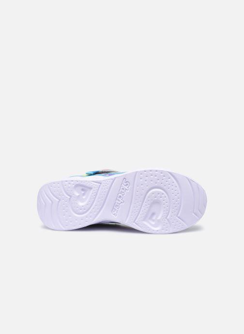 Sneaker Skechers Heart Lights Shimmer Spots silber ansicht von oben