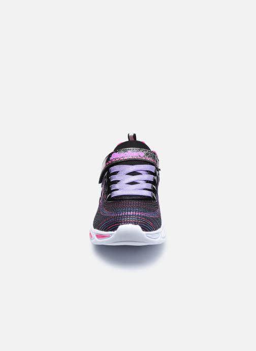 Baskets Skechers Shimmer Beams Sparkle Glow Noir vue portées chaussures