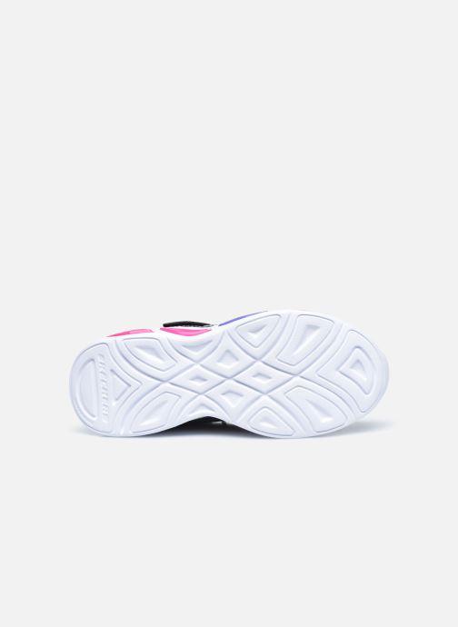 Baskets Skechers Shimmer Beams Sparkle Glow Noir vue haut