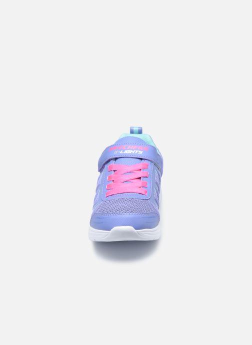 Baskets Skechers Glimmer Kicks Bleu vue portées chaussures