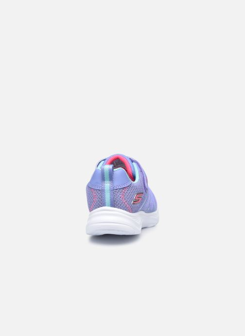 Baskets Skechers Glimmer Kicks Bleu vue droite
