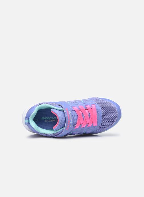 Baskets Skechers Glimmer Kicks Bleu vue gauche