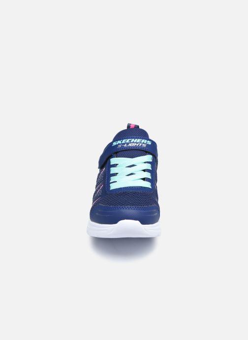 Sneaker Skechers Glimmer Kicks Shimmy Brights blau schuhe getragen