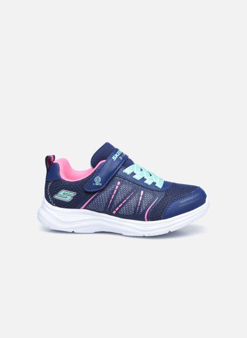 Sneaker Skechers Glimmer Kicks Shimmy Brights blau ansicht von hinten