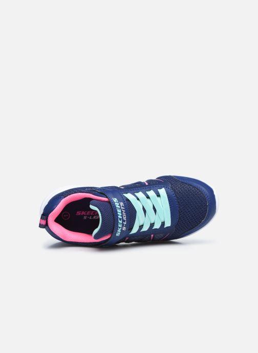 Sneaker Skechers Glimmer Kicks Shimmy Brights blau ansicht von links