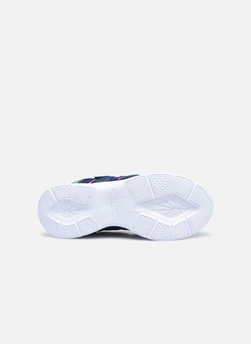 Sneaker Skechers Glimmer Kicks Shimmy Brights blau ansicht von oben
