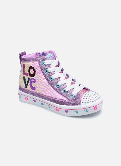 Baskets Skechers Twi-Lites 2.0 Lilac Love Violet vue détail/paire