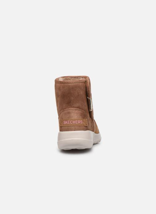 Bottines et boots Skechers Go Walk Joy Strong Willed Marron vue droite