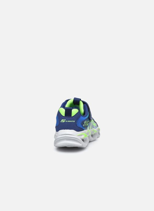 Deportivas Skechers Thermo-Flash Azul vista lateral derecha