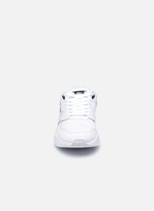 Baskets Lacoste Storm 96 Lo 0120 3 W Blanc vue portées chaussures