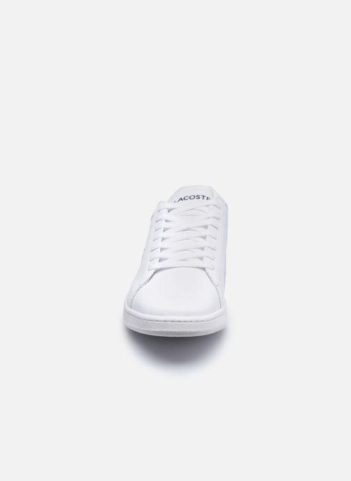 Sneakers Lacoste Carnaby Evo 0120 4 Bianco modello indossato