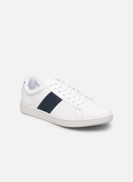 Baskets Lacoste Carnaby Evo 0120 3 Blanc vue détail/paire