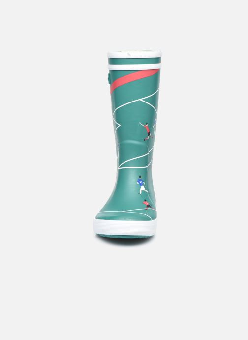 Stiefel Aigle Lolly Pop Theme grün schuhe getragen