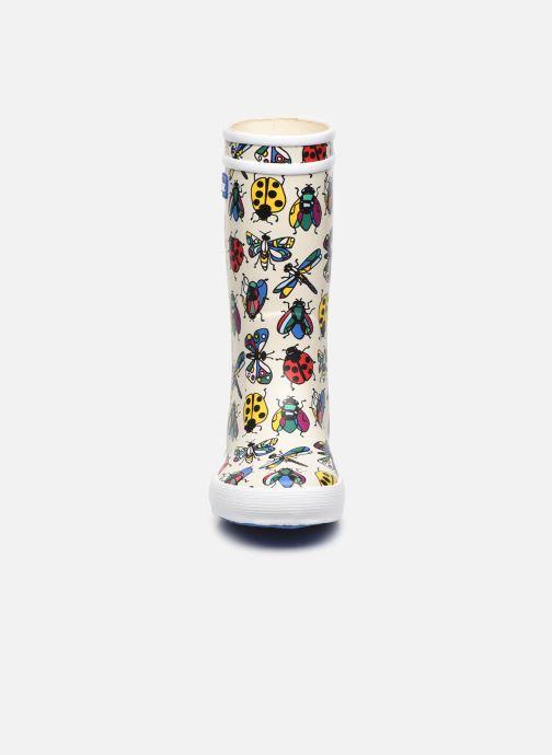 Stiefel Aigle Lolly Pop Theme weiß schuhe getragen