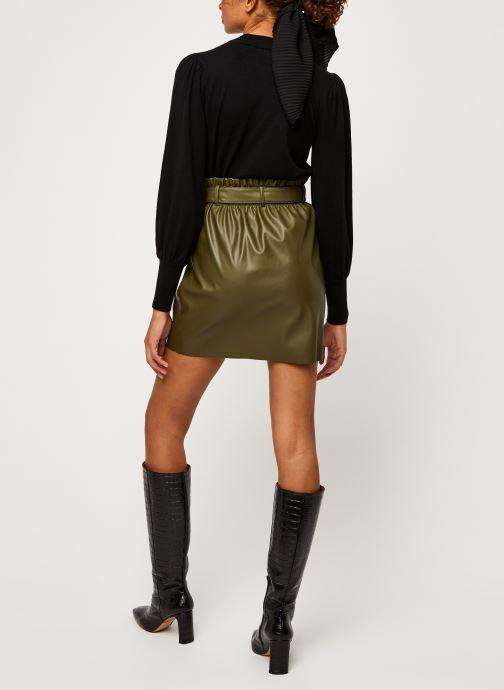 Vêtements Vero Moda Vmawardbelt Short Coated Skirt Boos Vert vue portées chaussures