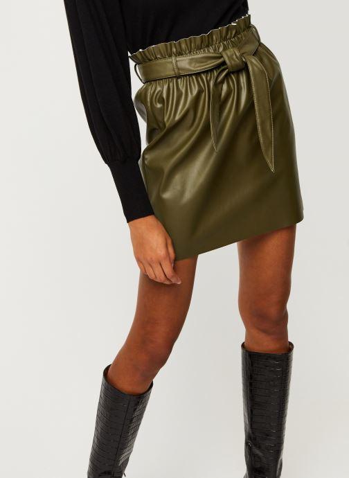 Vêtements Vero Moda Vmawardbelt Short Coated Skirt Boos Vert vue détail/paire