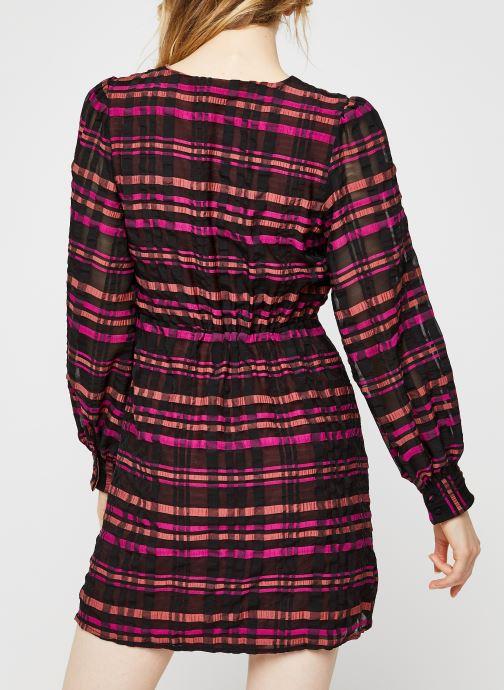 Vêtements Vero Moda Vmdanielle L/S V-Neck Dress Multicolore vue portées chaussures