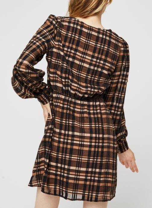 Vêtements Vero Moda Vmdanielle L/S V-Neck Dress Marron vue portées chaussures
