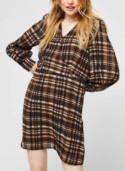 Vêtements Vero Moda Vmdanielle L/S V-Neck Dress Marron vue droite