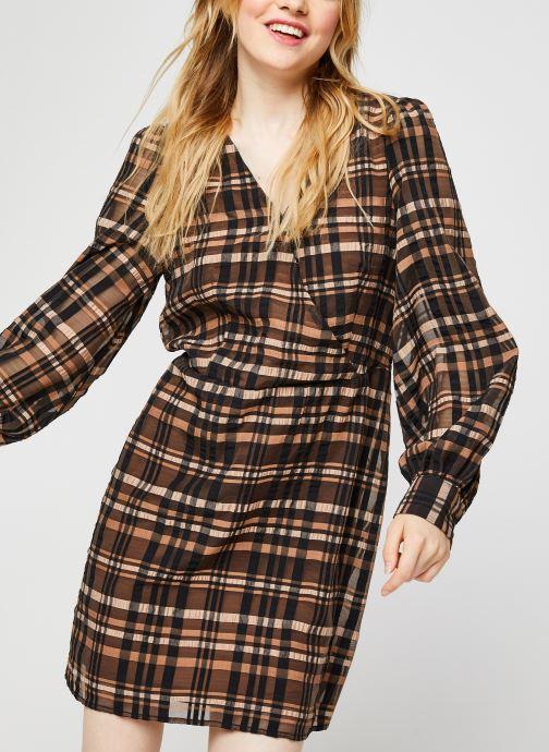 Vêtements Vero Moda Vmdanielle L/S V-Neck Dress Marron vue détail/paire