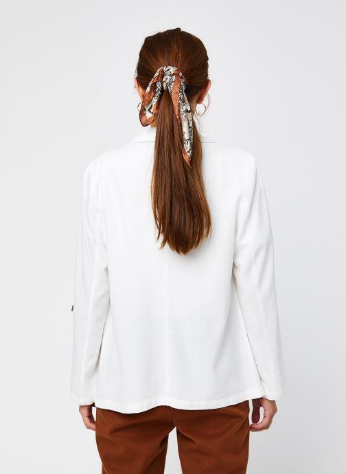 Vêtements Vero Moda Vmhelenmilo 3/4 Loose Blazer Blanc vue portées chaussures