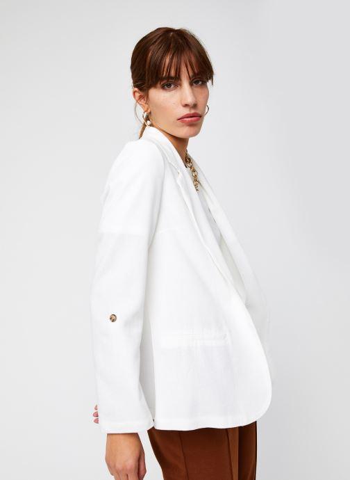 Vêtements Vero Moda Vmhelenmilo 3/4 Loose Blazer Blanc vue détail/paire