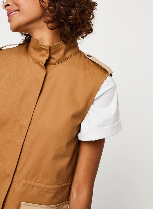 Vêtements Vero Moda Vmskilar S/L Oversize Vest Marron vue face