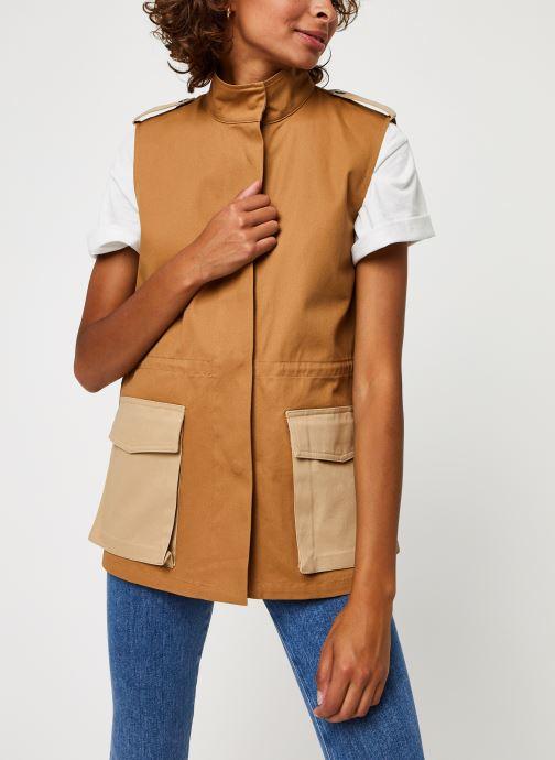 Vêtements Vero Moda Vmskilar S/L Oversize Vest Marron vue droite
