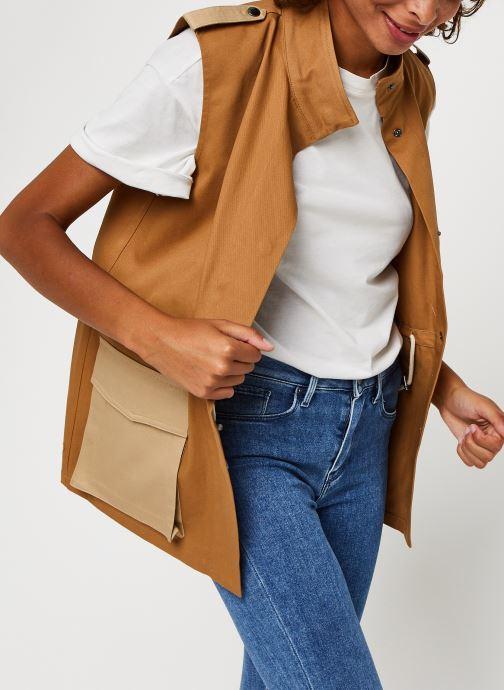 Vêtements Vero Moda Vmskilar S/L Oversize Vest Marron vue détail/paire