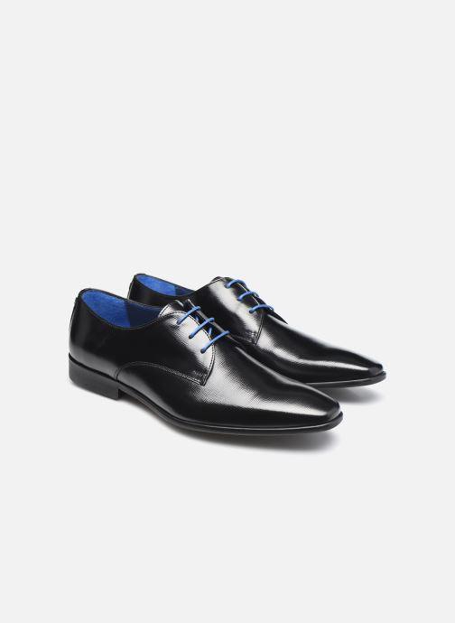 Zapatos con cordones Azzaro JORPI Negro vista 3/4