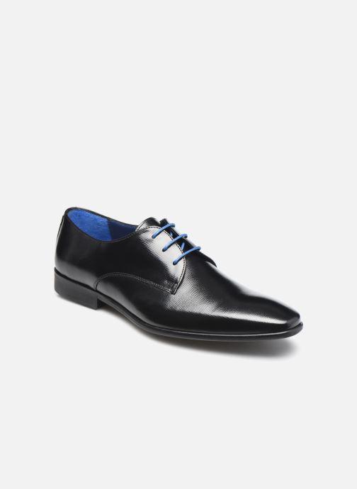 Snøresko Azzaro JORPI Sort detaljeret billede af skoene