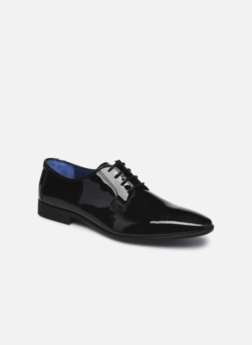 Snøresko Azzaro VICHOL Sort detaljeret billede af skoene