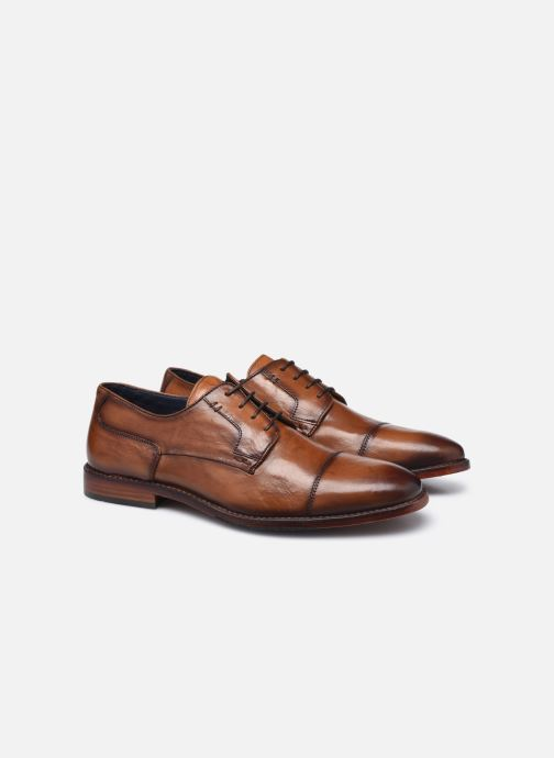 Zapatos con cordones Azzaro TILLEUIL Marrón vista 3/4