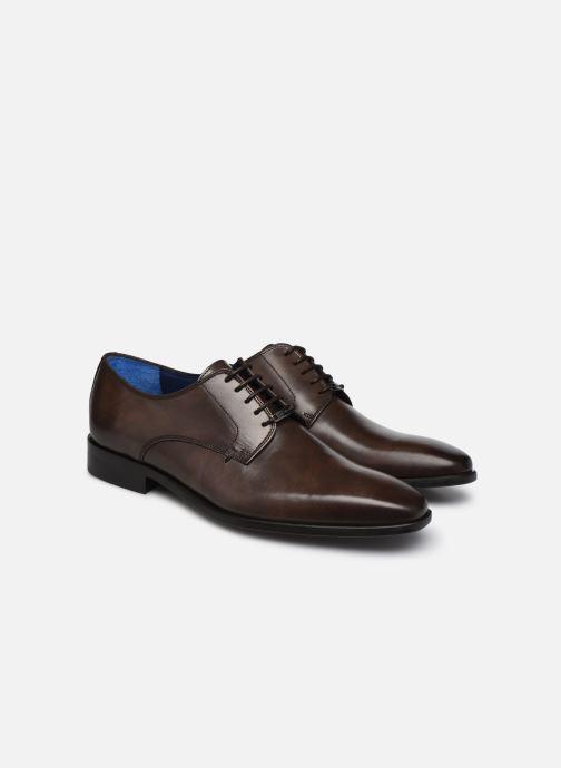 Zapatos con cordones Azzaro CARDONI Marrón vista 3/4