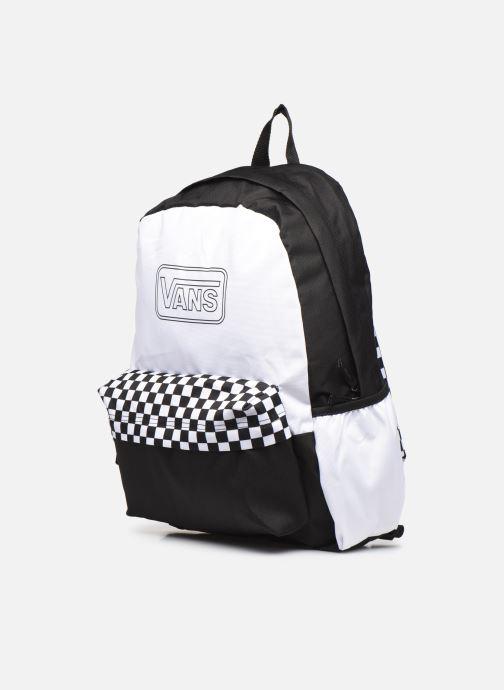 Sacs à dos Vans Diy Backpack Blanc vue portées chaussures