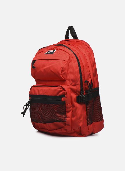 Rucksäcke Vans Stasher Backpack rot schuhe getragen