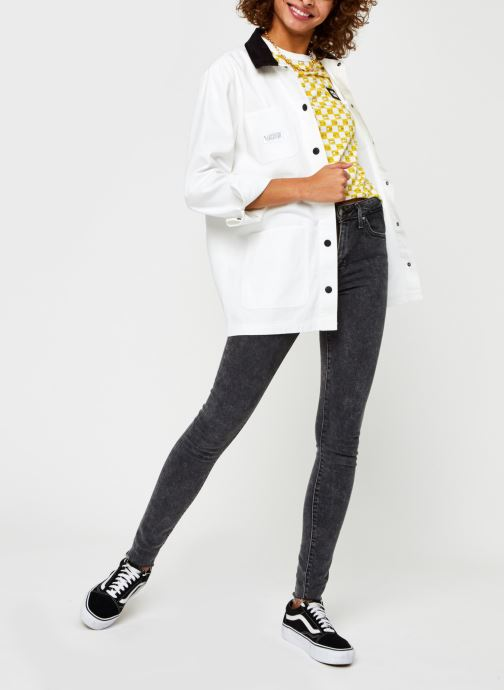 Vêtements Vans Make Me Your Own Drill Chore Coat Blanc vue bas / vue portée sac