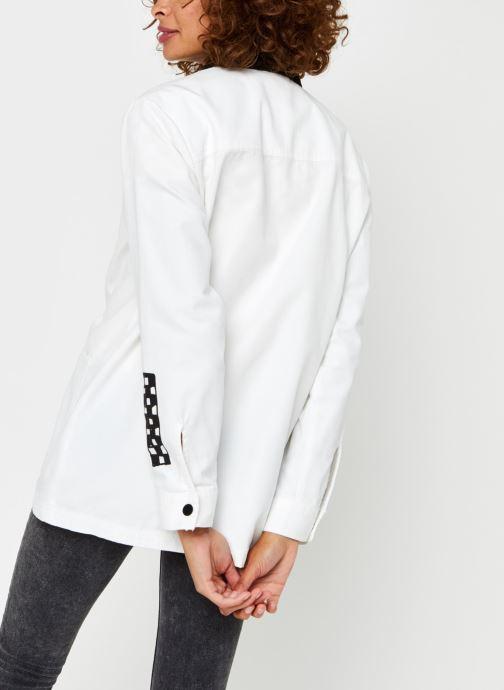 Vêtements Vans Make Me Your Own Drill Chore Coat Blanc vue portées chaussures
