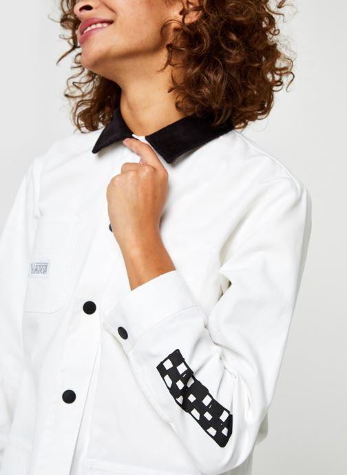 Vêtements Vans Make Me Your Own Drill Chore Coat Blanc vue face