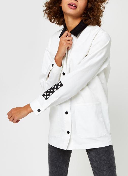 Vêtements Vans Make Me Your Own Drill Chore Coat Blanc vue droite